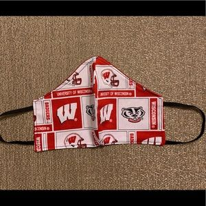 Men Collage Football Wisconsin Badgers Face Mask